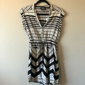 Angie black and white patterned dress